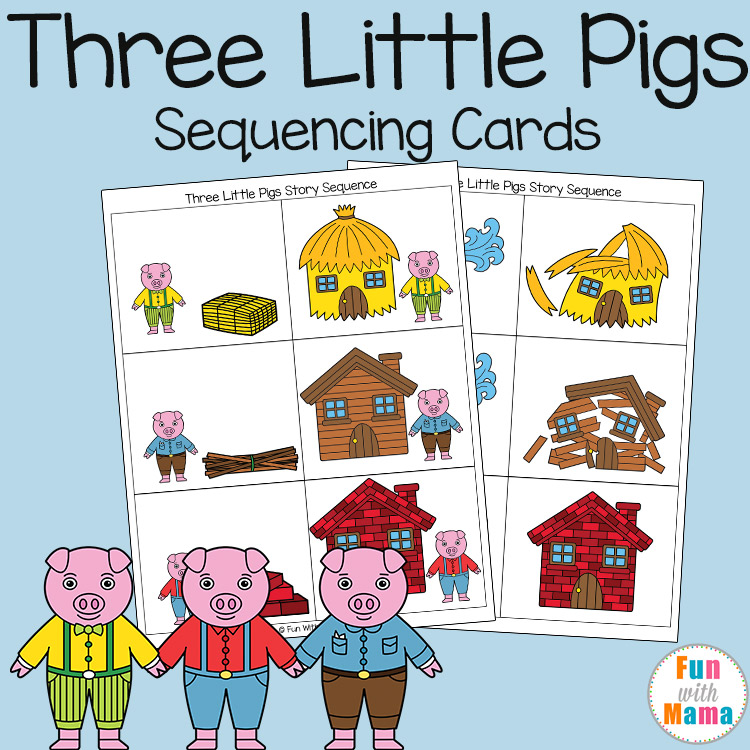 Alternative story to Three Little Pigs story story map and