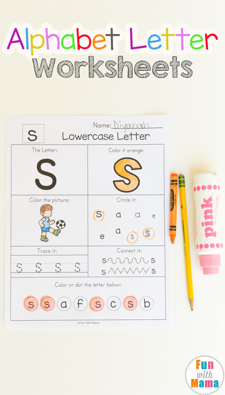 Printable alphabet worksheets pdf