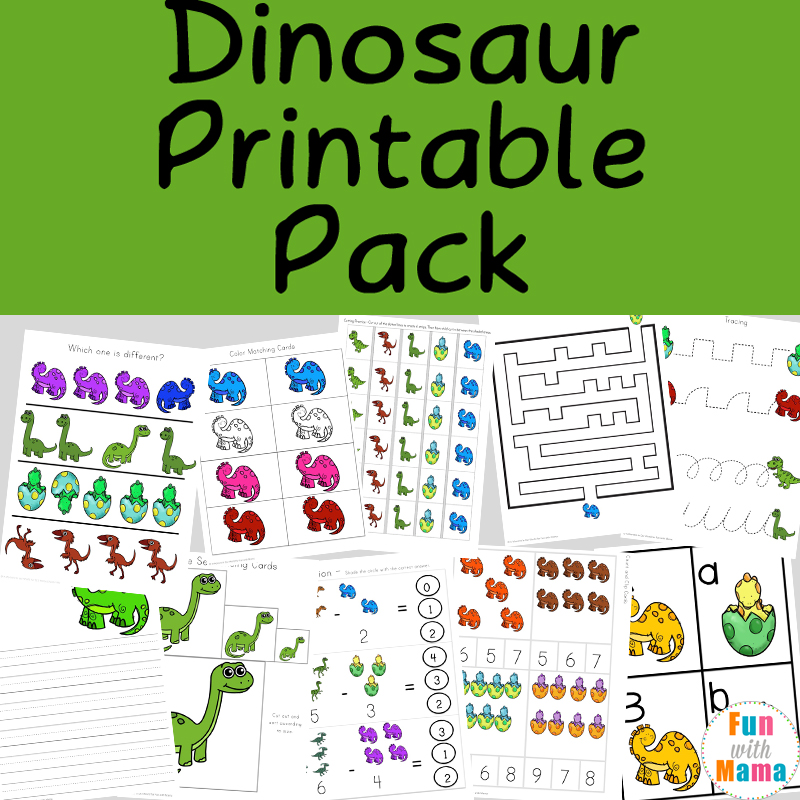 Dinosaur theme preschool worksheets