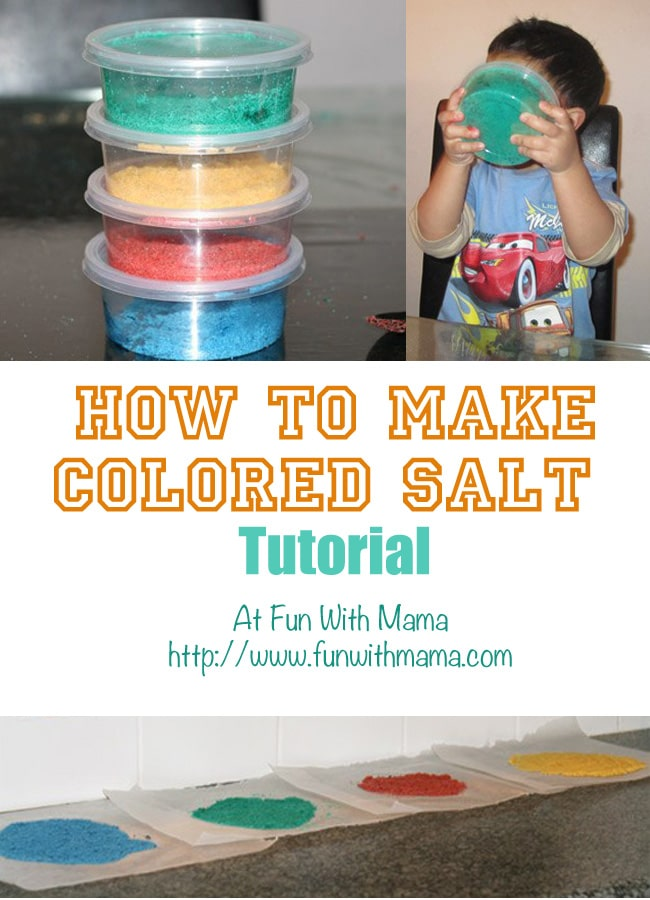 Have you ever wondered how to make colored salt? Making it with toddlers, preschoolers and elementary kids is so easy and makes for a fun kids activity.