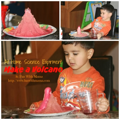 volcano science experiment for kids