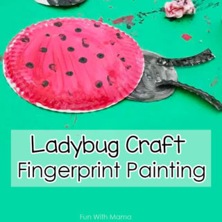Ladybug Craft Fingerprint Painting Activity