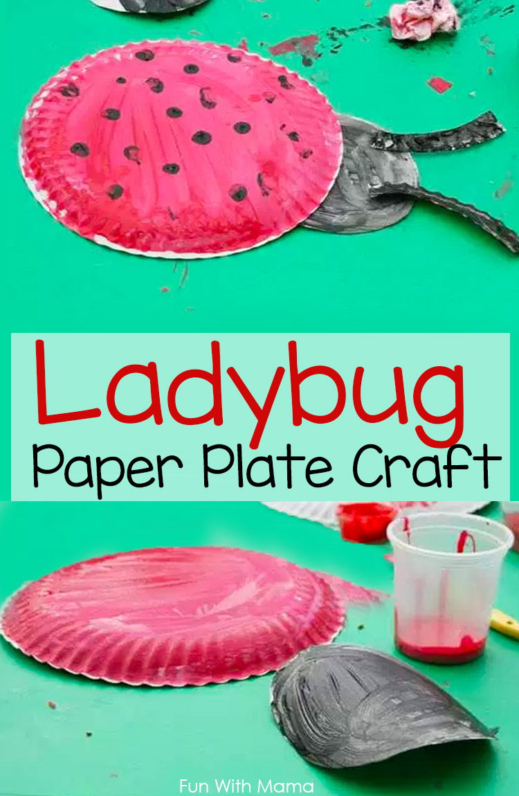 Easy and Creative Ladybug Kids Craft and Painting activity for Preschool and toddler kids
