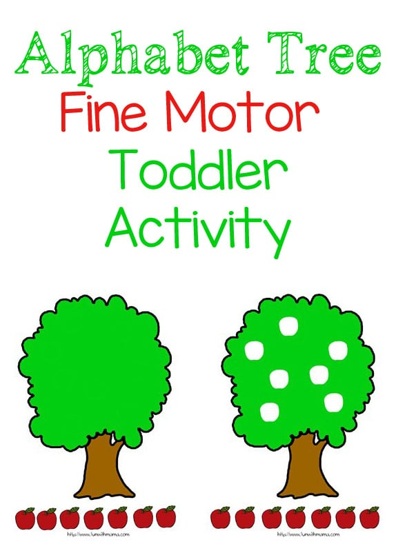 This alphabet tree activity is a fun and simple way to work on your toddlers fine motor skills