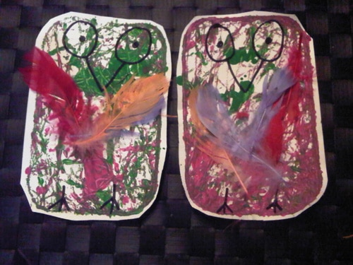 Marble painting art craft activity is perfect for toddler and preschool energy
