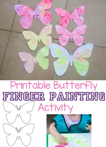 Download this printable butterfly that is wonderful for finger painting with toddlers, preschoolers and elementary age kids.