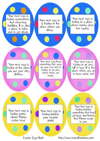 Printable Easter Egg Hunt Ideas Clues Fun With Mama