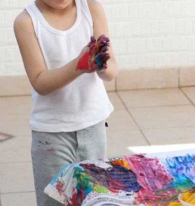 homemade finger paint that doesn't stain