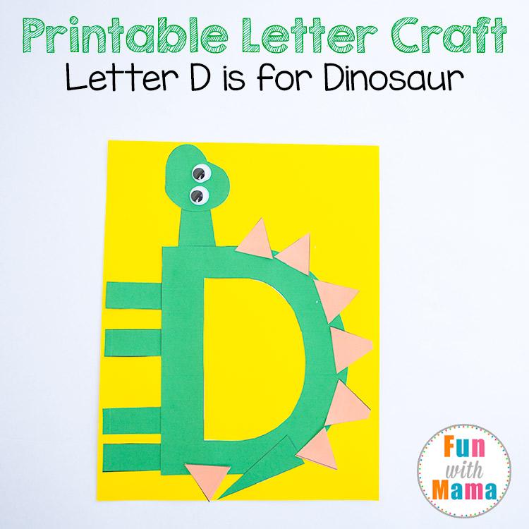 letter d crafts dinosaur