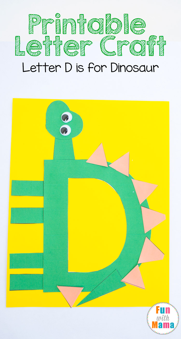 printable letter d crafts d is for dinosaur fun with mama. Black Bedroom Furniture Sets. Home Design Ideas