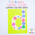 Printable Letter D Crafts D is for Dots