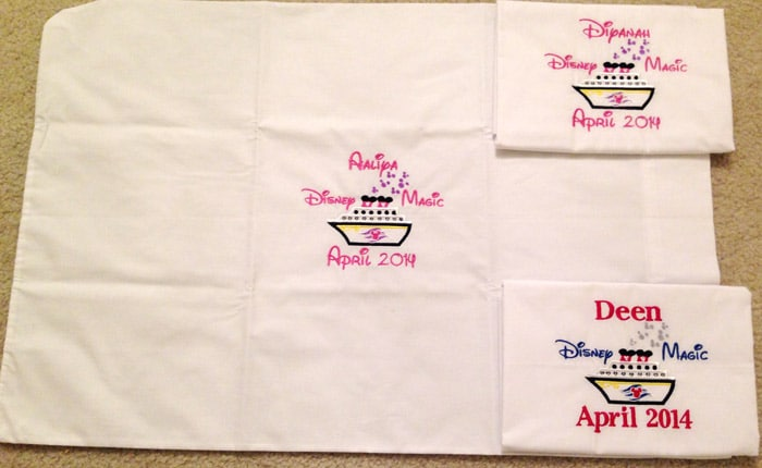 disney cruise pillow autographs