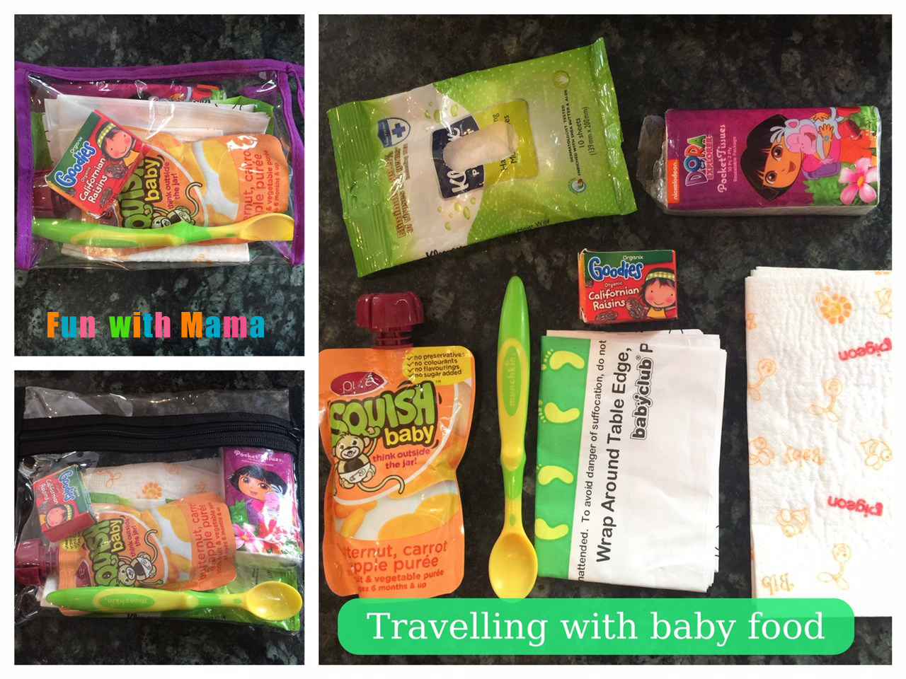how to travel with baby food organization tips