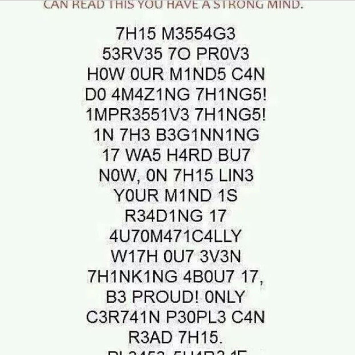 brain can read this without the right spelling subconsciously