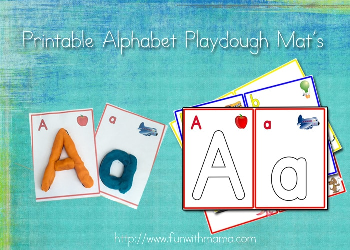 alphabets and numbers printable play dough mats