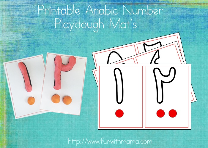 arabicnumberplaydoughmats
