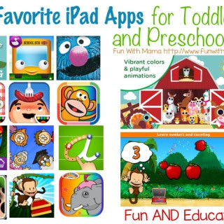 favorite children's ipad apps for toddlers and preschool kids age 1 2 3 and 4