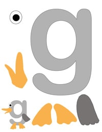 G is for Goose printable letter activity