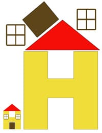 h for house printable letter activity