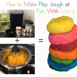how to make playdough at home