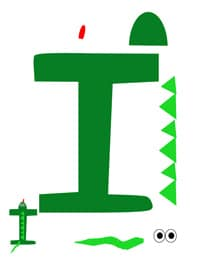 i for iguana printable letter activity