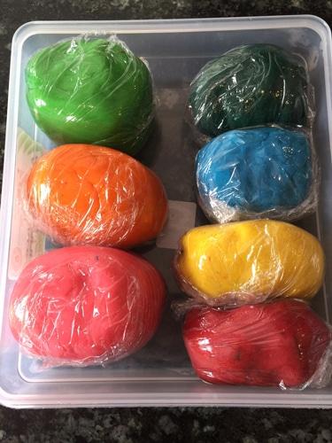storing play dough