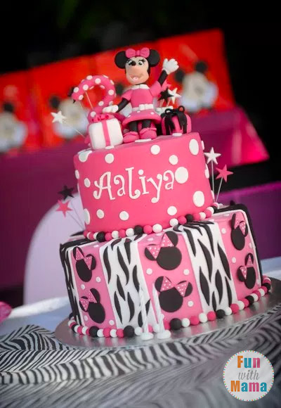 Minnie Mouse Birthday Party Ideas Zebra Style Fun with Mama