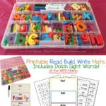 Read Build Write Mats For Dolch Sight Words