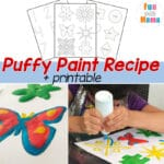 Puffy Paint Recipe – Paint That Rises + Printable