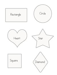 shapes puffy paint printable web - Kids Painting Pictures Printable