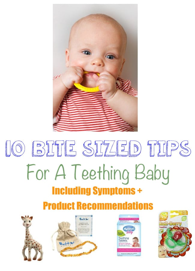 Is my baby teething? Many moms of young babies have so many questions about teething. This post contains teething signs and symptoms as well as some tips to ease teething pains.