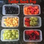 Toddler Snack Prep