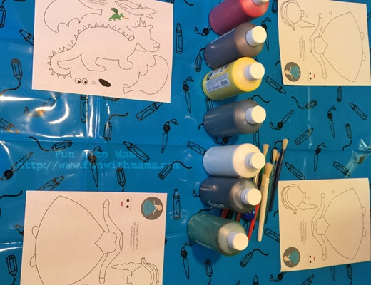 Anna elsa frozen craft art activity for kids