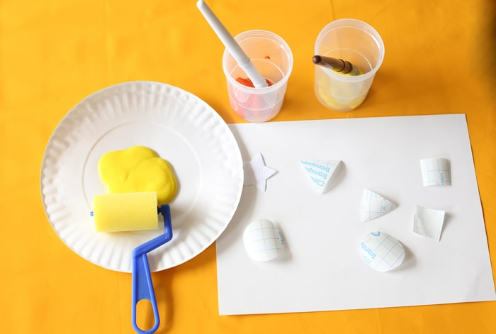 A Fun Toddler and Preschool Shapes Resist Painting Activity to teach preschoolers their shapes in a fun filled way.