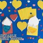 Printable Lunch Box Heart Crayon Resist