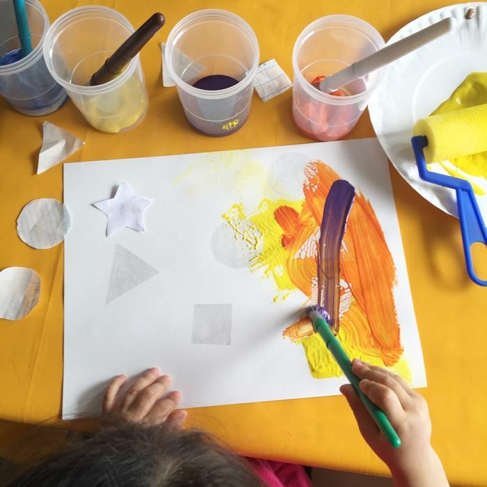 preschool shapes and colors activities