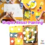 Toddler Preschool Shapes Resist Painting Activity