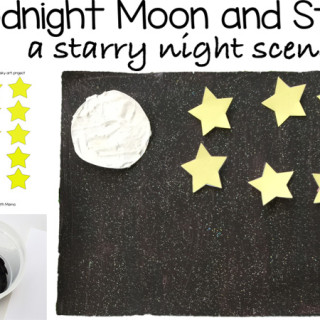 Goodnight Moon and Star Night Sky