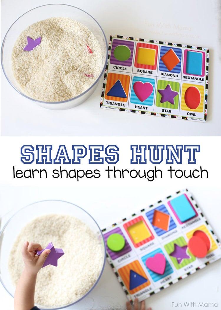 Preschool Shapes Activity Hunt
