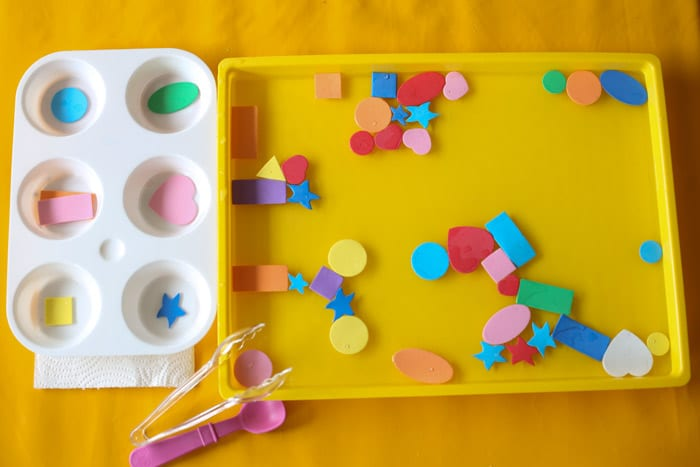 Easy Toddler And Preschool Shapes Fishing Activity