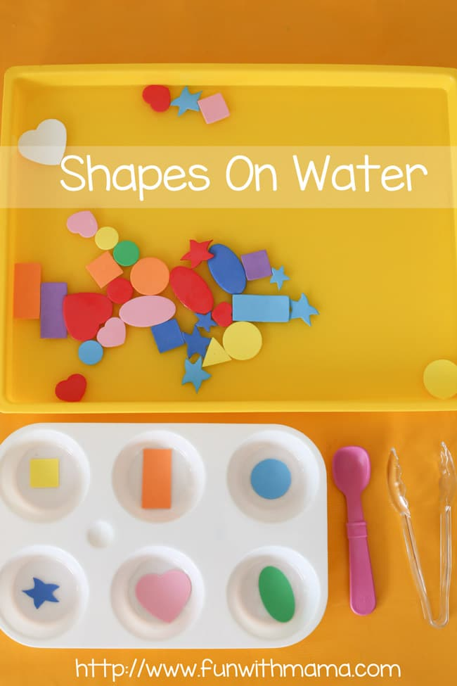 Teaching toddler and preschooler shapes through water play is a wonderful way to work on fine motor skills too! This magical combination of shapes, water and tools creates the perfect balance for half an hour of exploration.