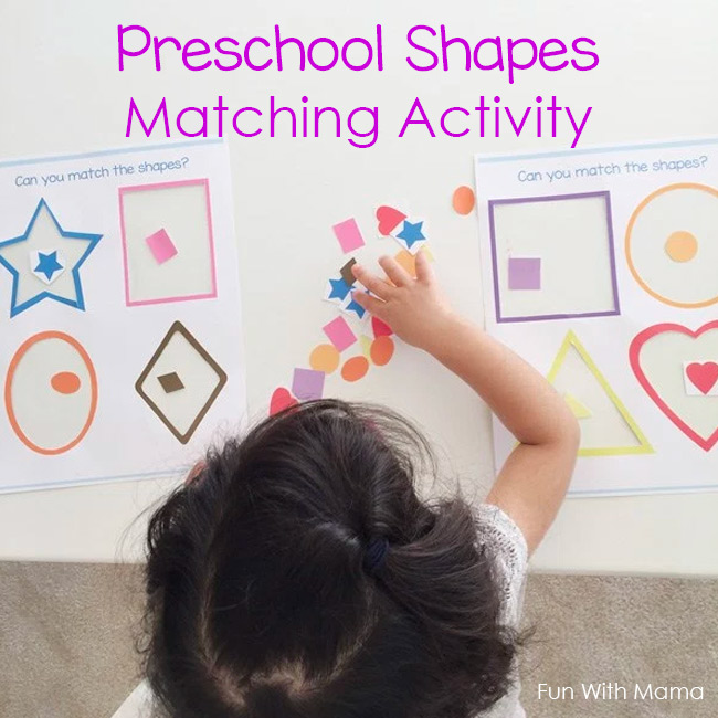 preschool shapes and colors activities