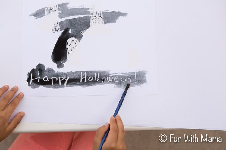 halloween kids painting activity