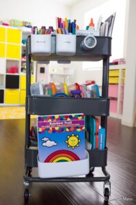 kids art supply organization ideas