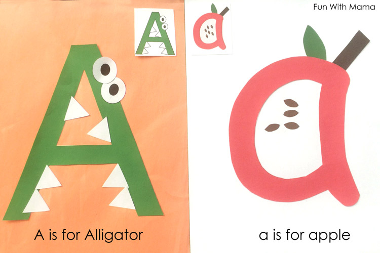 Printable alphabet letter crafts fun with mama for Letter p preschool crafts