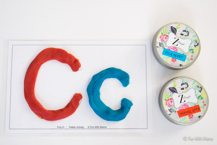 letter c playdough