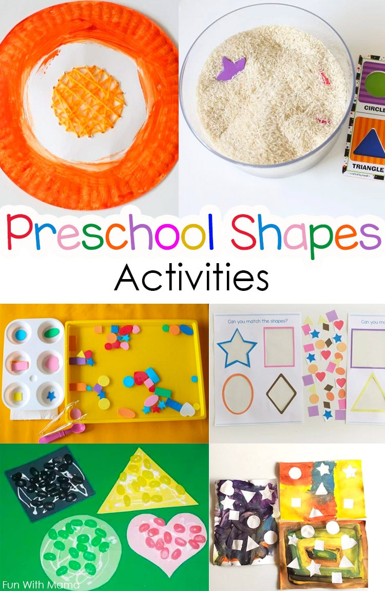 colors and shapes activities for preschoolers and toddlers