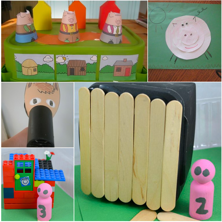 Three Little Pigs Crafts and activities for toddlers and preschoolers