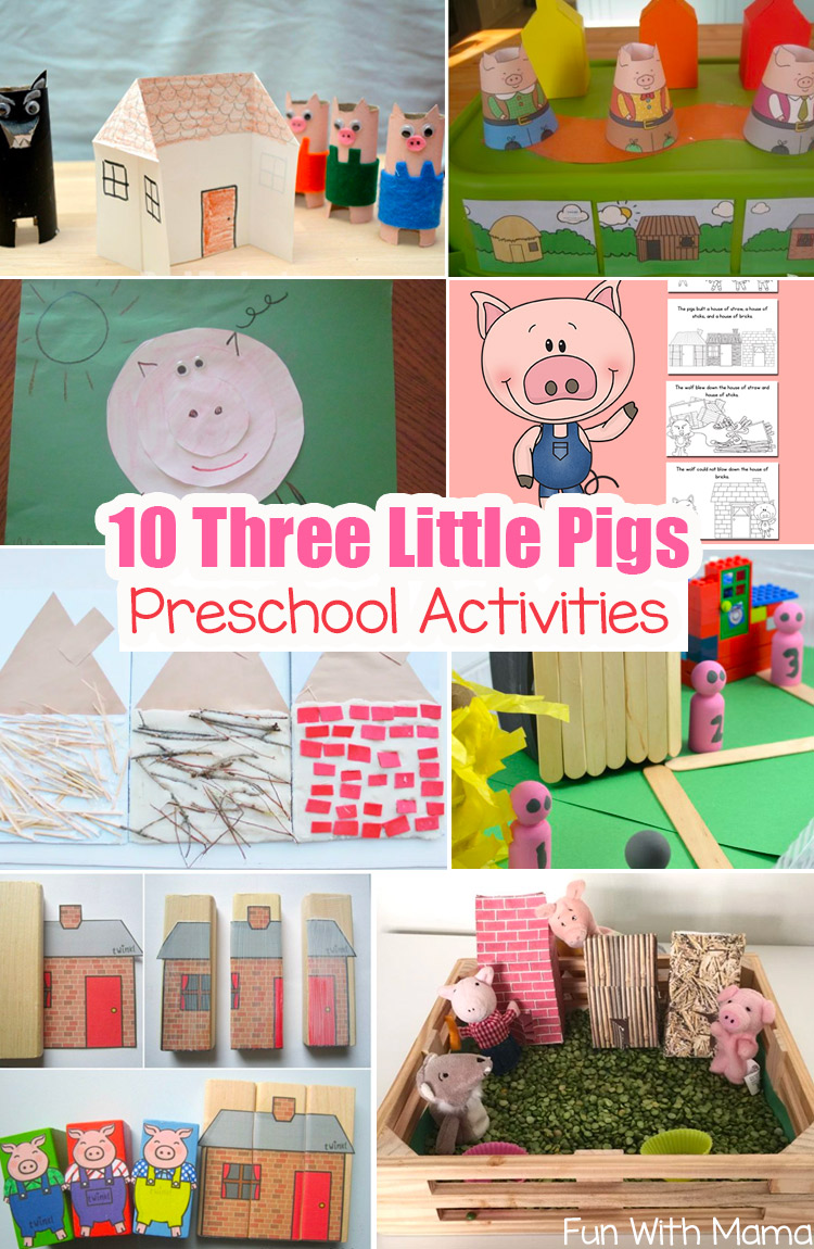 3 Little Pigs Craft Sequencing Coloring Pages - Fun with Mama