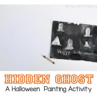 Hidden Ghost Halloween Painting